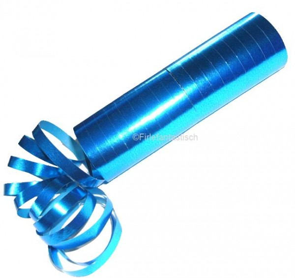Blaue Luftschlangen, die metallisch schimmern