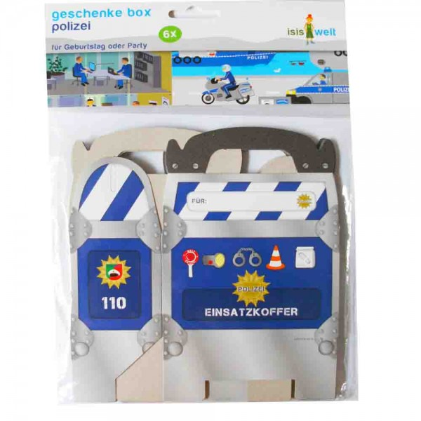 Polizei-Geschenkbox 6St.