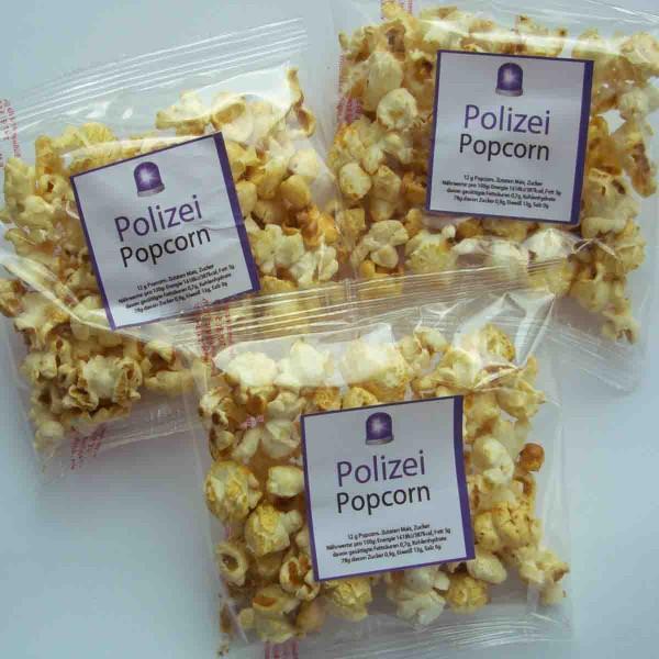 Polizei Popcorn Tütchen