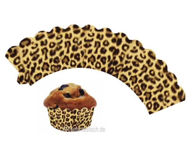 Cupcake Banderolen-Leopard 12St.