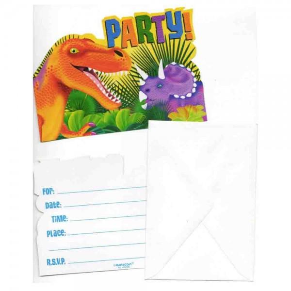 Tolle Einladungen für den Kindergeburtstag Dinosaurie