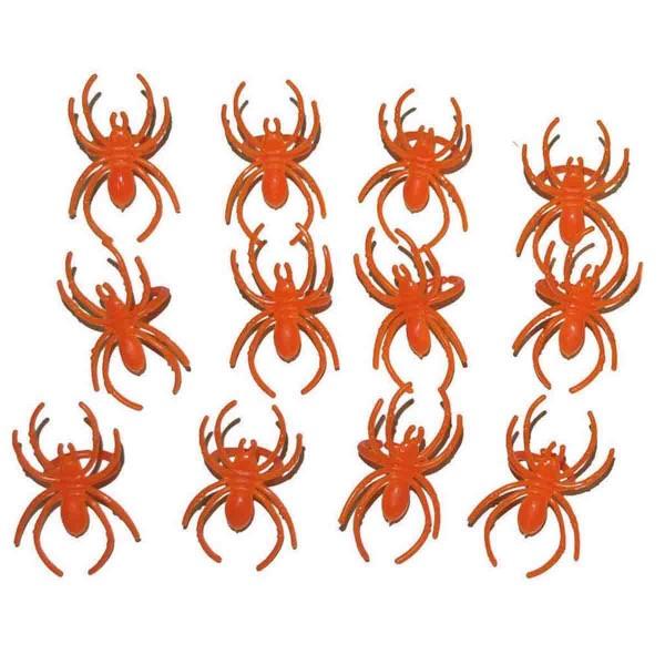 Spinnen-Fingerringe Orange 25St.