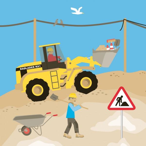 Achtung Baustelle-Servietten