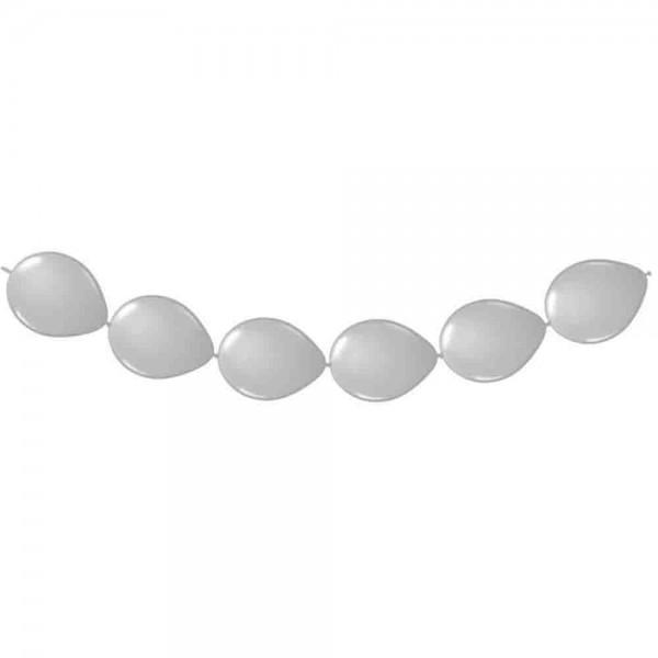 Ketten-Ballons Metallic Silber