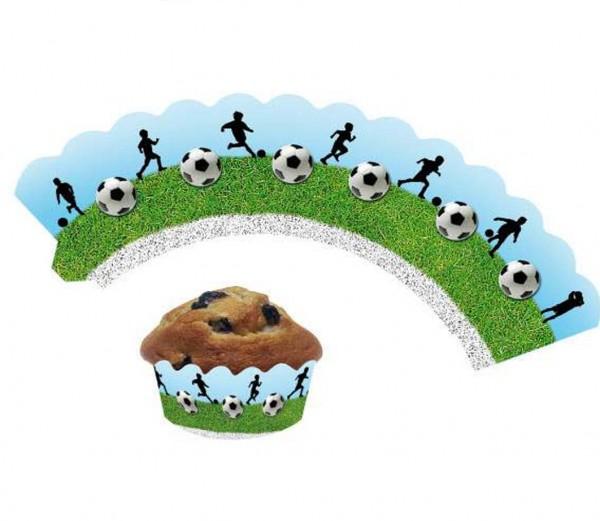 Cupcake Banderolen Fußball 12St.