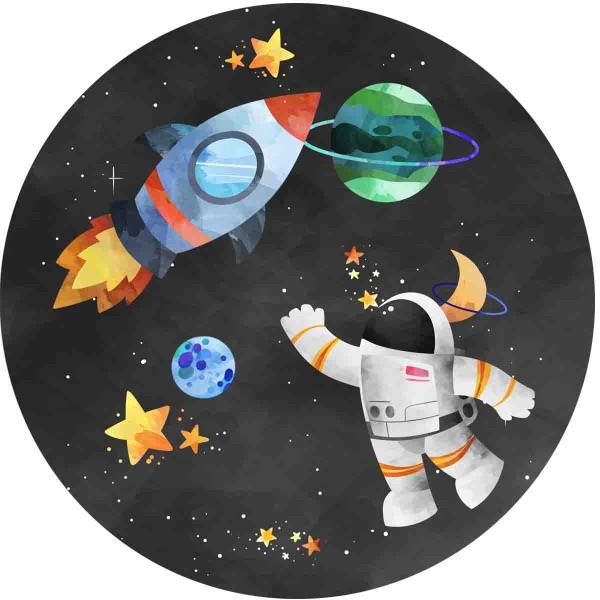 Essbarer Kuchenaufleger für die Weltraumparty