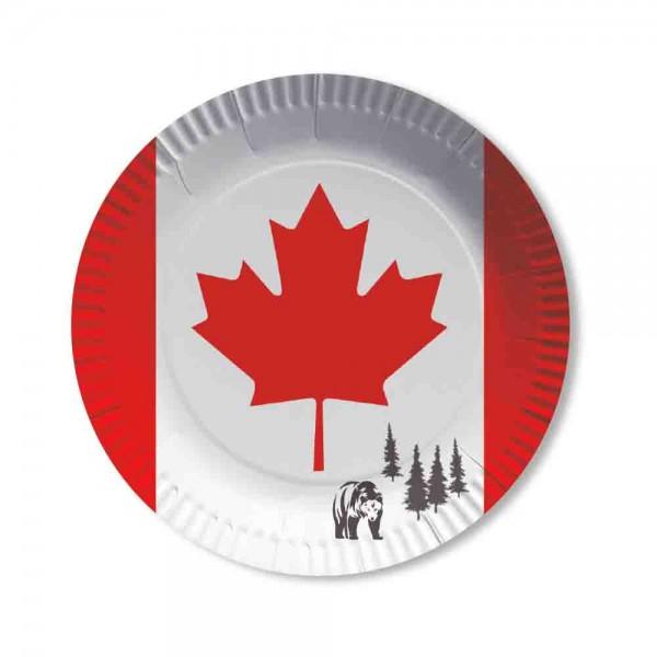 Kanada Teller 10 Stück