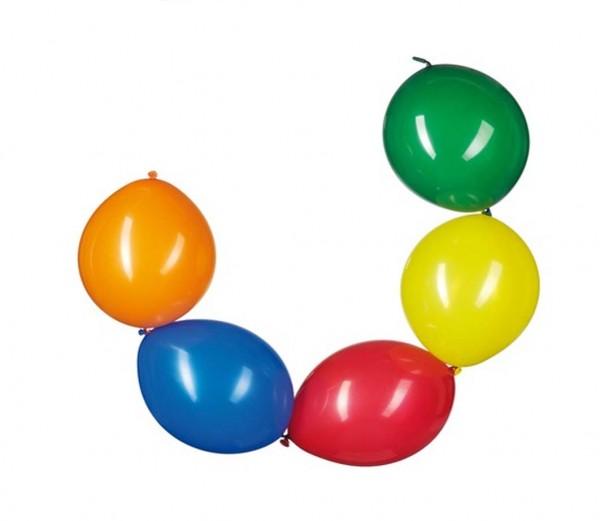 Ketten-Ballons Bunt