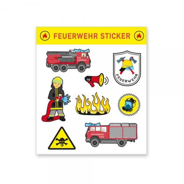Feuerwehrsticker für den Kindergeburtstag Feuerwehr