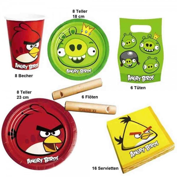 Angry Birds Partyset 52-tlg.