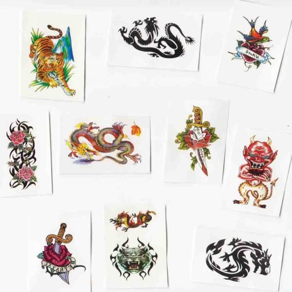 Kleine Tattoos 10 Stück
