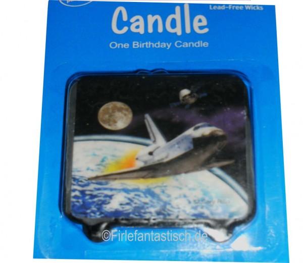 Kerze für den Weltraumgeburtstag