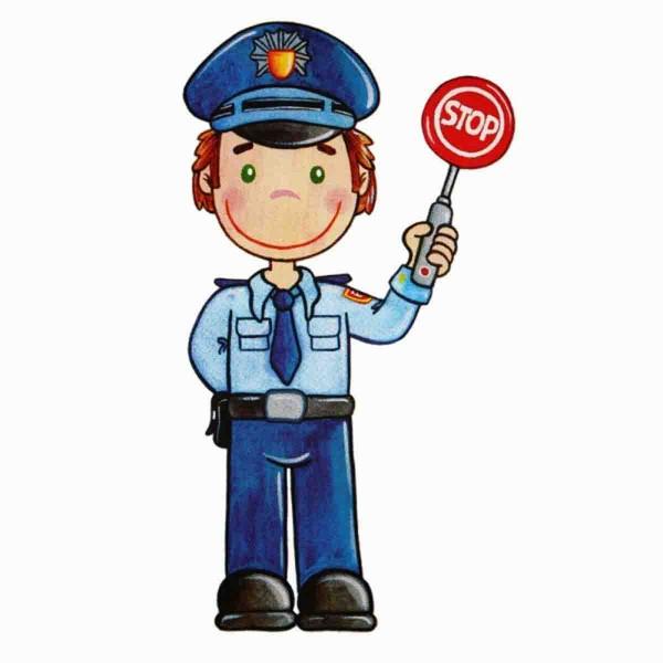 Polizist zum Aufbügeln