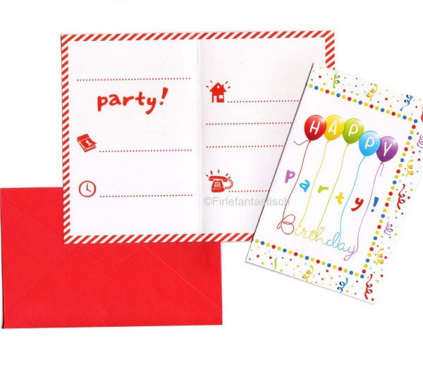 Happy Birthday-Einladungen