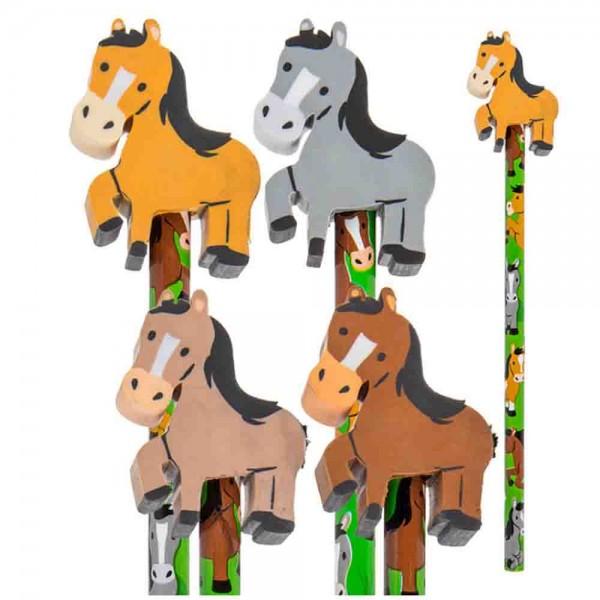 Pferdebleistift mit Pferderadiergummi