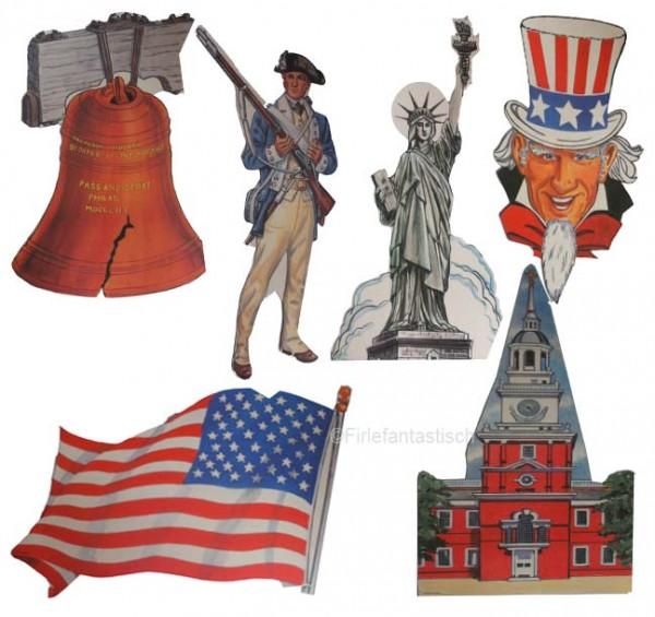 Dekoration für die Amerika-Party
