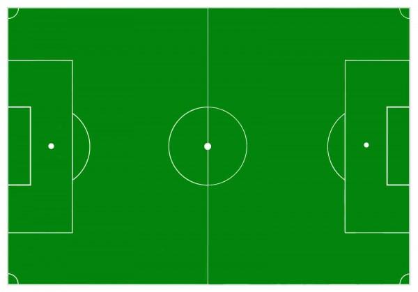 Essbares Fußballfeld für den Fußballkuchen