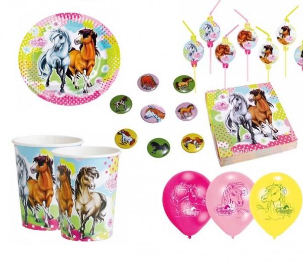 Charming Horses Partyset 58tlg.