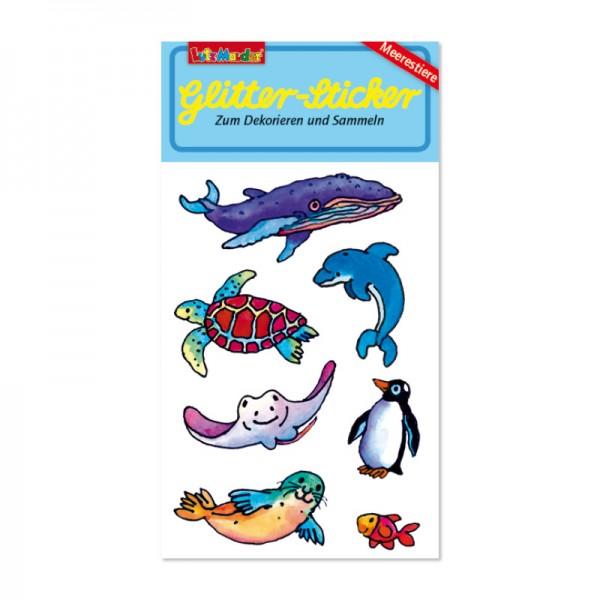Glitter-Sticker Meerestiere