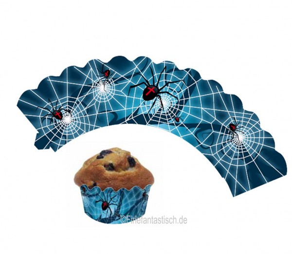 Cupcake Banderolen Spinne 12St.