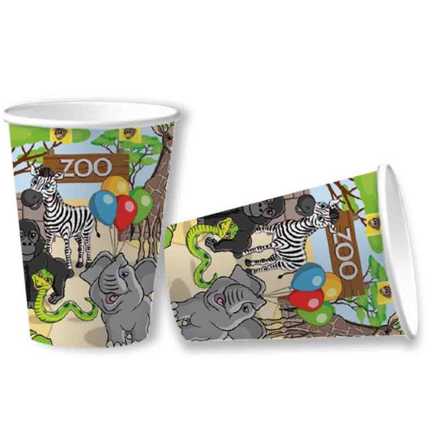 Becher zum Thema Zoo Geburtstag