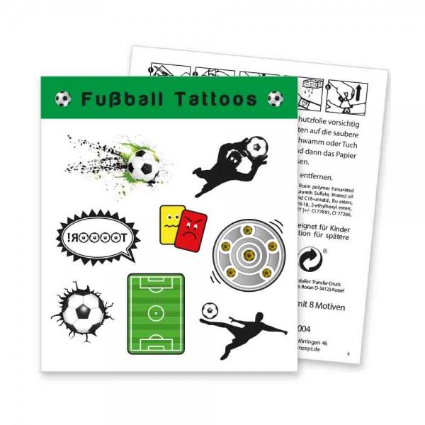 Lang haltende Fußball Tattoos