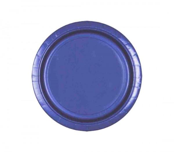 Blaue Partyteller
