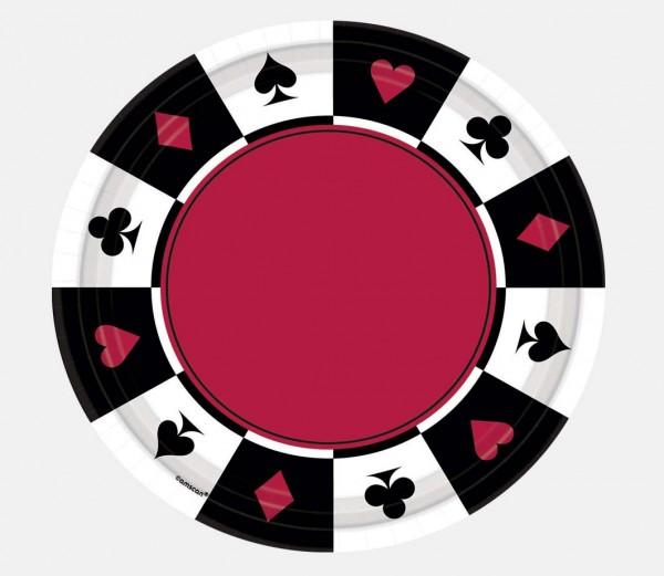 Monte Carlo Christmas Party: Partyzubehör Pokern Dekoration