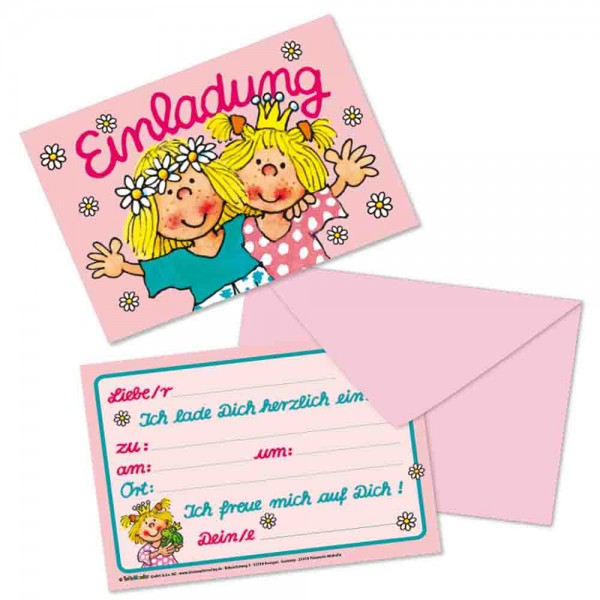 Prinzessin Mirabella Einladungen 8St.