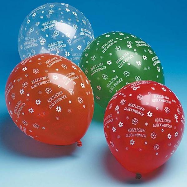 Ballons Herzlichen Glückwunsch 5St.