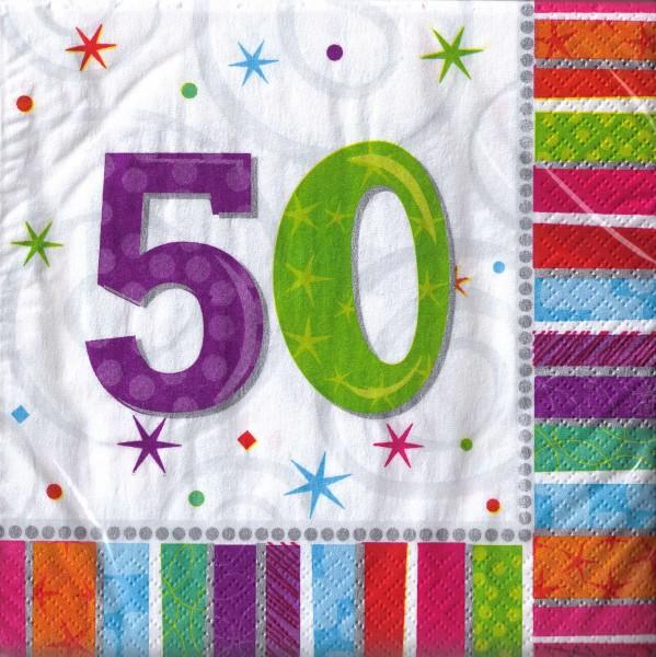 Servietten für den 50. Geburtstag