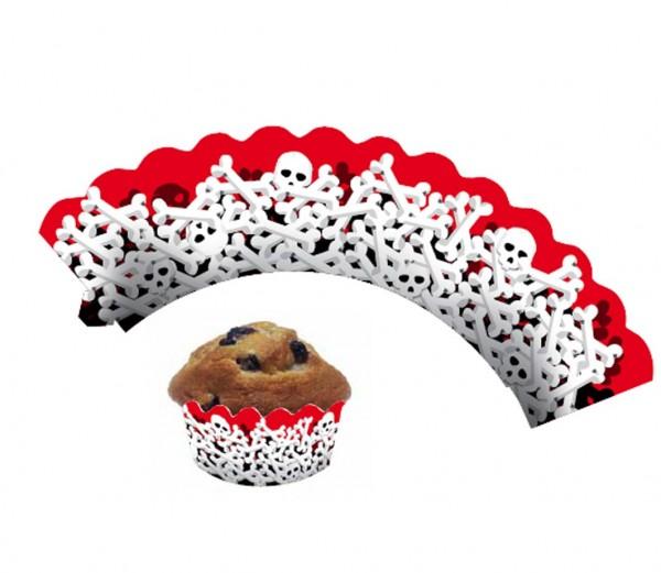 Cupcake Banderolen Knochen 12St.