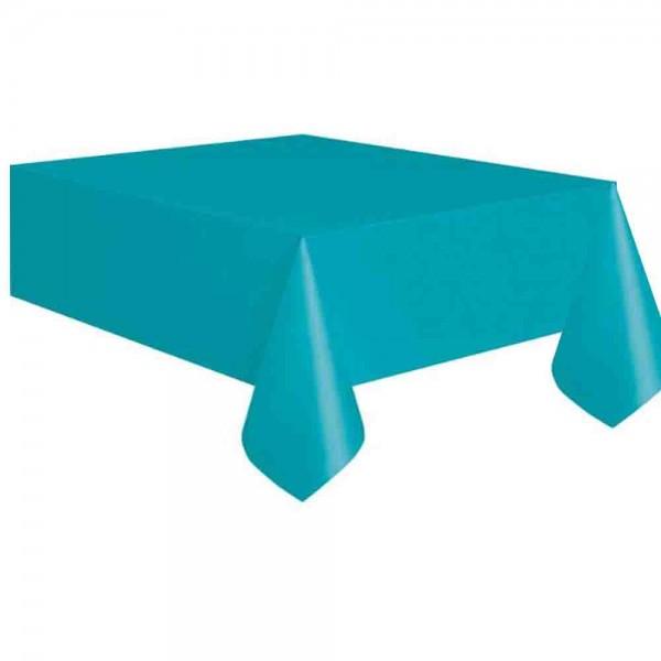 Kunststoff-Tischdecke karibisch Blau