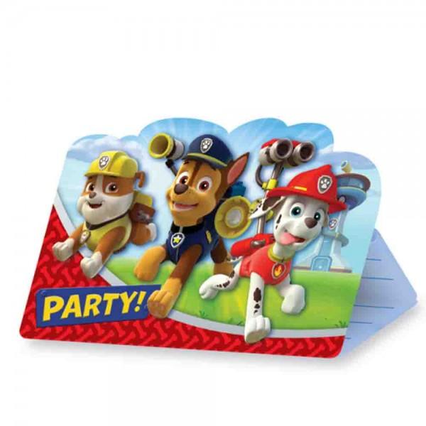 Einladungen für die Paw Patrol Party
