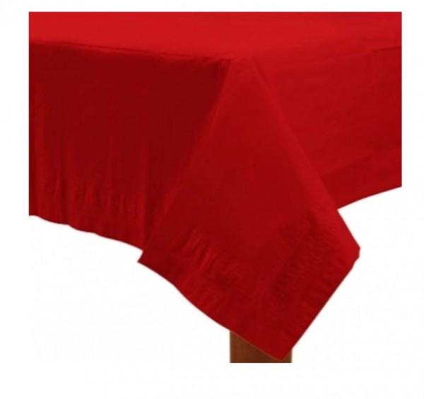 Einfarbige Tischdecke in Rot
